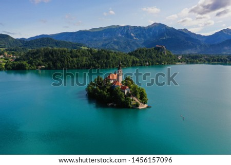Lake Bled in Slovenian Alps #1456157096