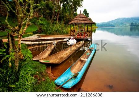 Shutterstock Lake Bunyonyi in Uganda, Africa