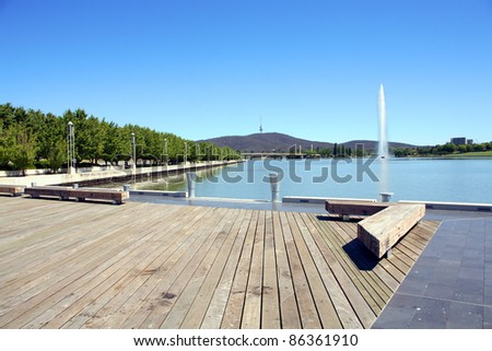 Lake Burley Griffin is an artificial lake in Canberra, the capital of Australia. It was completed in 1963 after the Molonglo River was dammed. Named after Walter Burley Griffin the American architect.