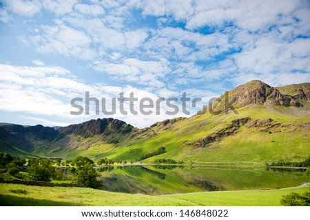 Lake Buttermere, Lake District National Park, Cumbria, England