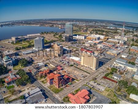 Lake Charles is a Town in Eastern Louisiana Сток-фото ©