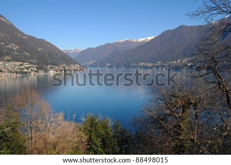Lake Como from a hill
