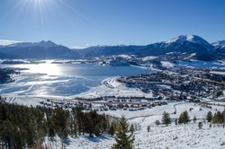 Lake Dillon in the Winter