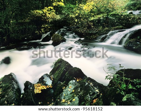 lake district national park cumbria england uk - force falls in the rusland valley