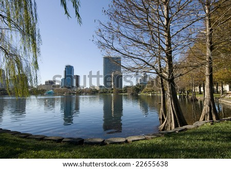 Lake Eola Park in Downtown Orlando