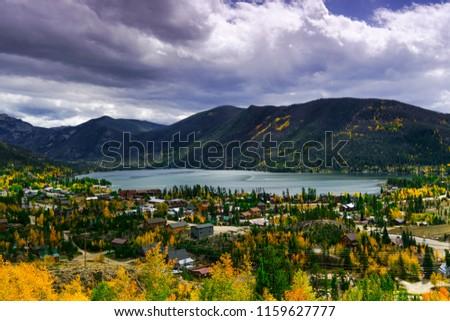 Lake Estes on cloudy day, Rocky Mountains Park, Colorado Stock photo ©