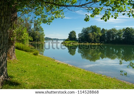 Lake Forggensee near the city F�¼ssen in Bavaria - Germany