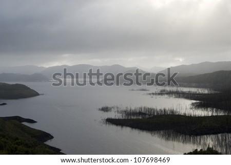 Lake Gordon in Tasmanias southwest wilderness national park