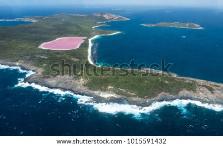 Lake Hillier on Middle Island Near Esperance, Western Australia.  #1015591432