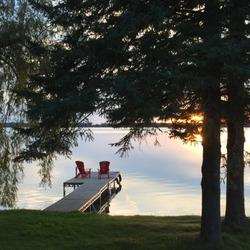 Lake House Early Sunset