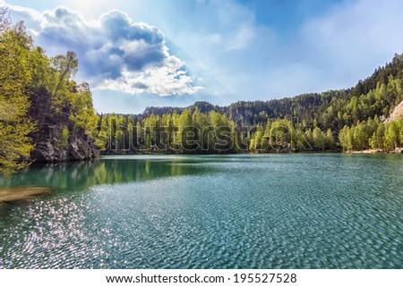 Lake in Adrspach - Rock City, Czech Republic