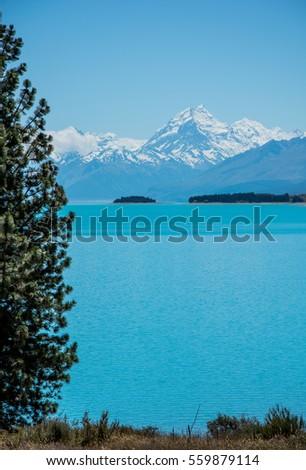 Lake In New Zealand Foto stock ©