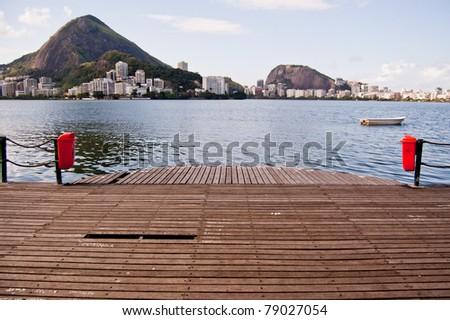 Lake in Rio de Janeiro, Brazil