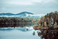 lake in the Appalachian Mountains in New Hampshire