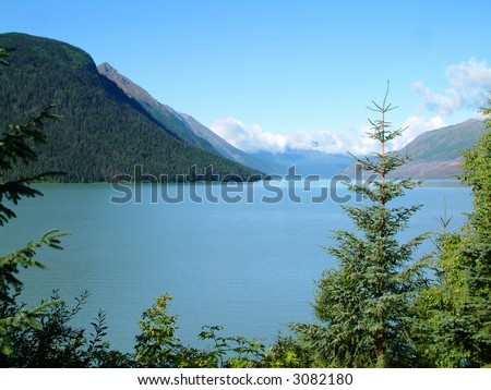Lake in the Kenai Peninsula in Alaska