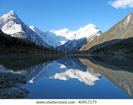 Lake in the mountains - stock photo