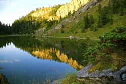Lake in the Rugova mountains of Kosovo