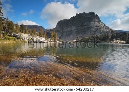 Lake in the Yosemite National Park Backcountry