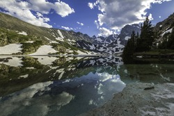 Lake Isabelle in the Indian Peaks Wilderness of Colorado