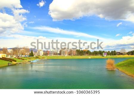 Lake Jarun in Zagreb, Crotia