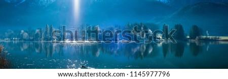 Lake Kochelsee in Winter, Germany #1145977796