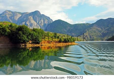 Lake Komani. Albania