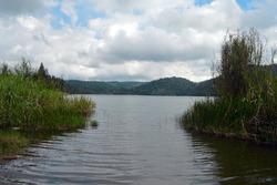 Lake Lau Kawar is located at the foot of Mount Sinabung, North Sumatra, Indonesia.