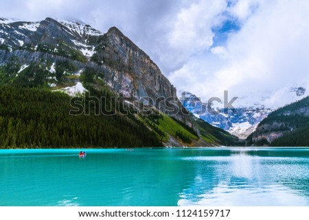 lake louise in banff national...