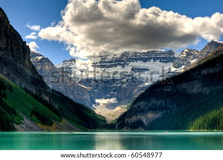 lake louise view in banff national park