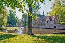 Lake Love (Minnewater) and Beginage. Brugge. Belgium