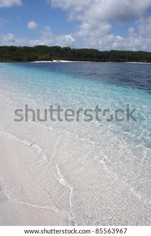 Lake MacKenzie on Fraser island off the Queensland coast of Australia - stock photo