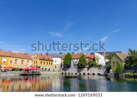 Lake Malom in Tapolca, Hungary. Stock fotó ©