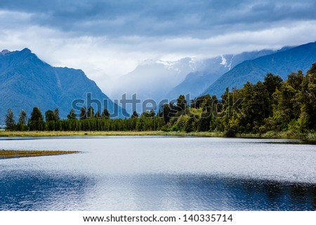 Lake Matheson. New Zealand