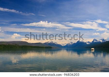 Lake Mcdonald in Glacier National Park - stock photo