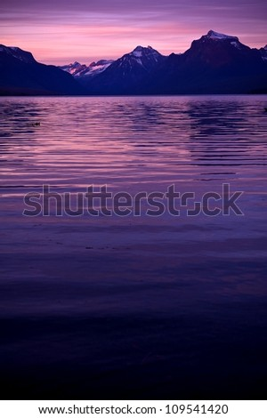 Lake McDonald Sunset. Lake McDonald in Glacier National Park. Vertical Photography. Montana Photo Collection.