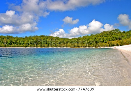 Lake McKenzie is one of the popular freshwater lake at Fraser Island, Australia