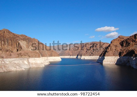 Lake Mead near Hoover Dam in Nevada, USA