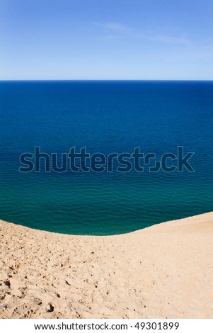 Lake Michigan as seen from the bluff at Sleeping Bear Dunes National Lakeshore