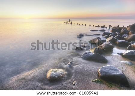 Lake Michigan Shore at Sunrise