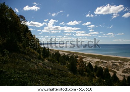 Lake Michigan Shoreline and hills