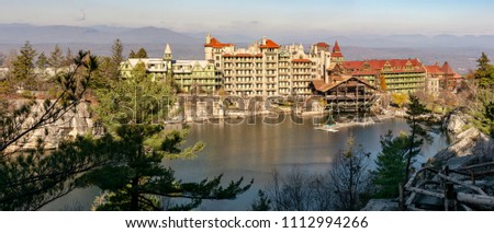 Lake Mohonk is a lake in Ulster County, New York, located on the Mohonk Preserve outside New Paltz, New York, in the Shawangunk Mountains.