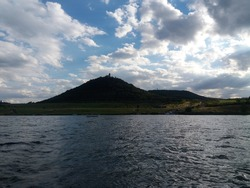 lake Most , recultivated coal mine, and hnevin castle