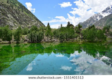Lake Naltar is a high mountain crystal clear emerald green lake, at an elevation of 3.228m above the sea level,located in the heart of Naltar Valley in the Gilgit District of Gilgit–Baltistan,Pakistan #1551401513