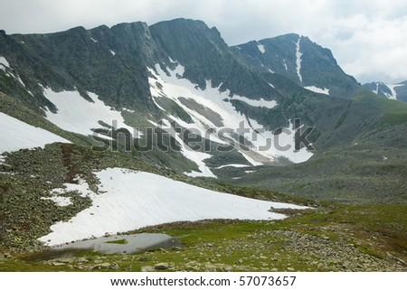 lake near mountains in siberia