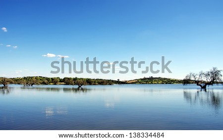 Lake of Alqueva, Guadiana river, Portugal
