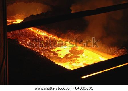 Lake of hot iron
