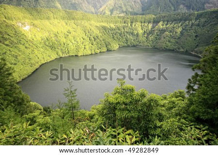 Lake of Santiago - Sao Miguel Island/Azores/Portugal - stock photo
