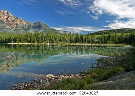 Lake Patricia in Jasper national park.