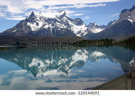 Lake Pehoe at Torres del Paine National Park, Chile