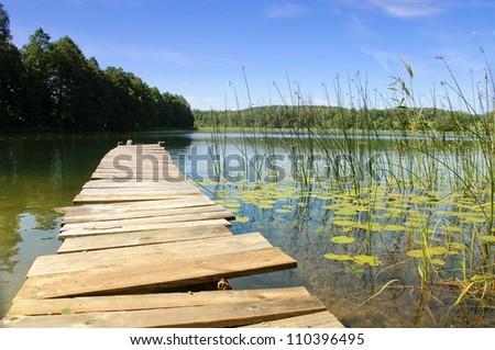 Lake Perty. Suwalki Landscape Park. Poland